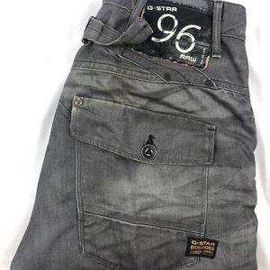 G-Star Raw Gray Slim Fit Italian Jeans 34x32 EUC